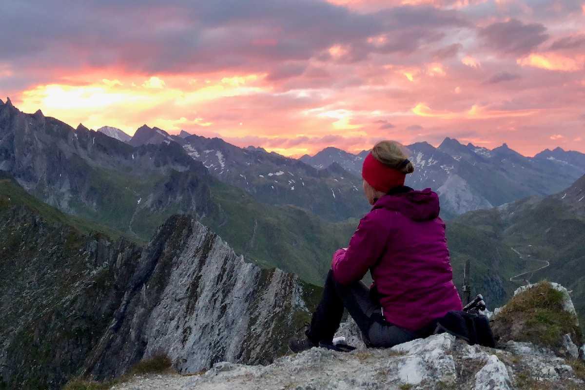 Sonnenaufgang Weisse Wand Rein Ahrntal